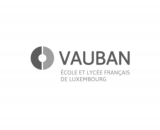 Logo VAUBAN ÉCOLE ET LYCÉE FRANCAIS DE LUXEMBOURG teinte de gris