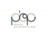 logo POP POSITIVE AND OPTIMISTIC MIND teinte de gris