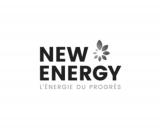 Logo NEW ENERGY L'ÉNERGIE DU PROGRÈS teinte de gris